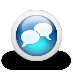 Glossy_3d_blue_conversation
